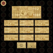 WR Business Gift 999.9 24k Gold Banknote Mexico 1000 Gold Foil Fake Money Quality Currency Bill Note Worth Collection(China)