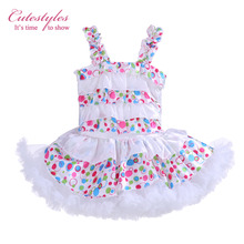 Cutestyles Girls Tutu Dresses Candy Colors Dot printed Baby Dancing Dress Cute Children Summer Wear Smocked Dresses TD30122-10(Hong Kong)