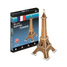 Development of intelligence,Educational toys,good quality,foam,emulational toys,gifts,buildings,mini,Eiffel Tower,3D PUZZLE(China)
