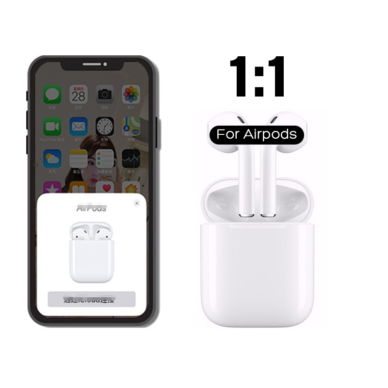 2019 New 1:1 Copy for Airpods Wireless Bluetooth Earphone 5.0 super bass Pop-up Charging Box For iPhone(China)