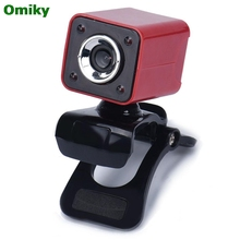 USB 2.0 0.3MP 4 LED HD Webcam Web Cam Camera with MIC for Laptop Computer DEC1