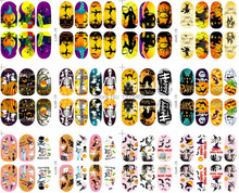 1 Sheet Night Lights Halloween Nail Stickers Unique Beauty Nail Art Decoration (B147)