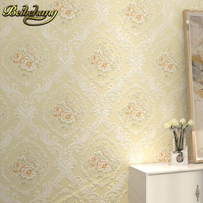 beibehang papel de parede 3D European garden flowers wallpaper for walls 3 d living room modern mural wall paper contact paper<br>