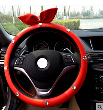 Automotive leather interior trim suit cartoon Ladies handbrake cover / gear sets / seat belt cover / mirror cover