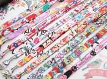 Free shipping 50 Pcs Wholesale Mickey Minnie Princess Necklace Strap Lanyards Cell Phone PDA Key ID Strap Charms L-88(China)