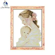 Joy sunday figure style Mother's tender arms love cross stitch patterns kits-for-embroidery needlepoint stores(China)
