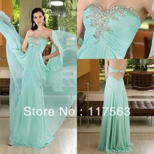 Free shipping indian style a line straplss beaded floor length chiffon prom dress WH229