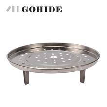 GUH 1pc of Stainless Steel Kitchen Catering Steaming Plate Rack Cell Cooking Pots And Pans Rack Kitchen Utensils(China)
