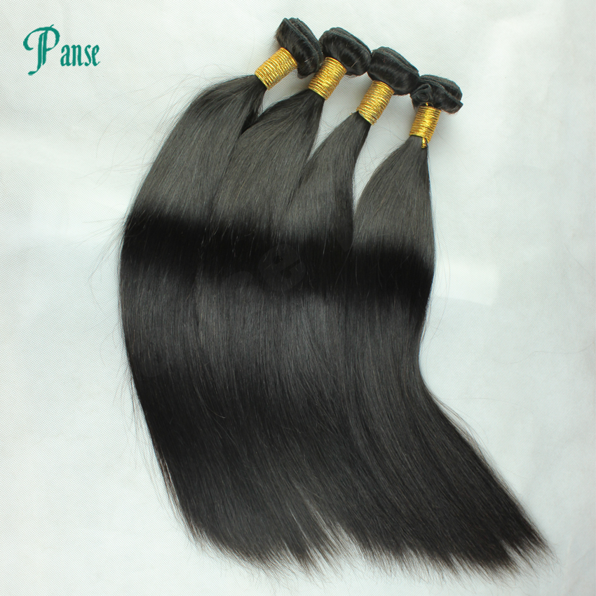 7A brazilian  Virgin Hair Straight hair weaves extensions 4pcs/lot unprocessed remy no shed tangle thick end soft  thick<br><br>Aliexpress