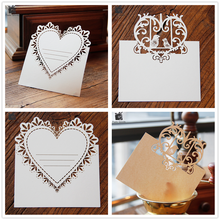 Blank Thank You 3D Laser Cut Wedding Invitation RSVP Cards Small Love Message Gift Cards Postcards Birthday Cards with Envelope(China)