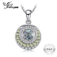 JewelryPalace Genuine 2ct Green Amethyst Peridot Pendant 925 Sterling Silver for fasion women Not Include Chain(China)
