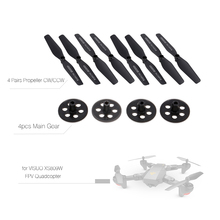 4pcs Main Gear and 4 Pairs Propeller CW CCW for VISUO XS809W XS809HW FPV RC Drone Quadcopter Helicopter Propellers