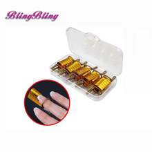 5PCS Adjustable Nail Forms Gold Extension Reusable  For UV GEL ACRYLIC Nail Art TIPS