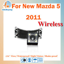 Wireless 1/4 Color CCD Rear View Camera / Parking Camera / Wireless Reverse Camera For New Mazda 5 2011 Night Vision / 170Degree