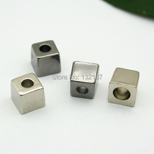 Wholesale metal zinc alloy bell stoppers small square cord ends lock black/silver free shipping BELL-005(China)