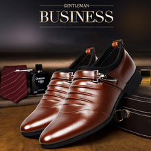 Buy Shoes Leather Man Commerce Walking Shoes Flat Men Leather Banquet British Pointed Shoes Point Single Winklepickers Shoes for $22.51 in AliExpress store