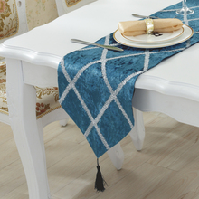 Simple Modern Striped Table Runner Quality Luxury Fashion Coffee Table Cloth Tablecloths Stylish Bed Runner Covers Pillowcase(China)