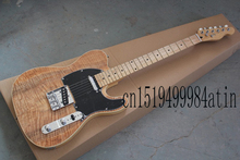 Wholesale new style telecaster guitar Ameican standard tele Brownish red electric guitar with Golden yellow Golden   @15