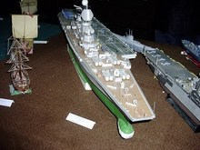 Russia Aircraft carrier 3D paper model class Aegis destroyer warship toy paper art