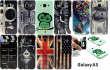 50PCS 2015 New IMD TPU Factory price US dallor Retro tape pattern Case for Samsung Galaxy A3