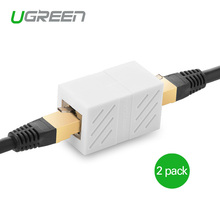 Ugreen 2Pack 8P8C RJ45 Cat 6 Connector Network Cable Adapter