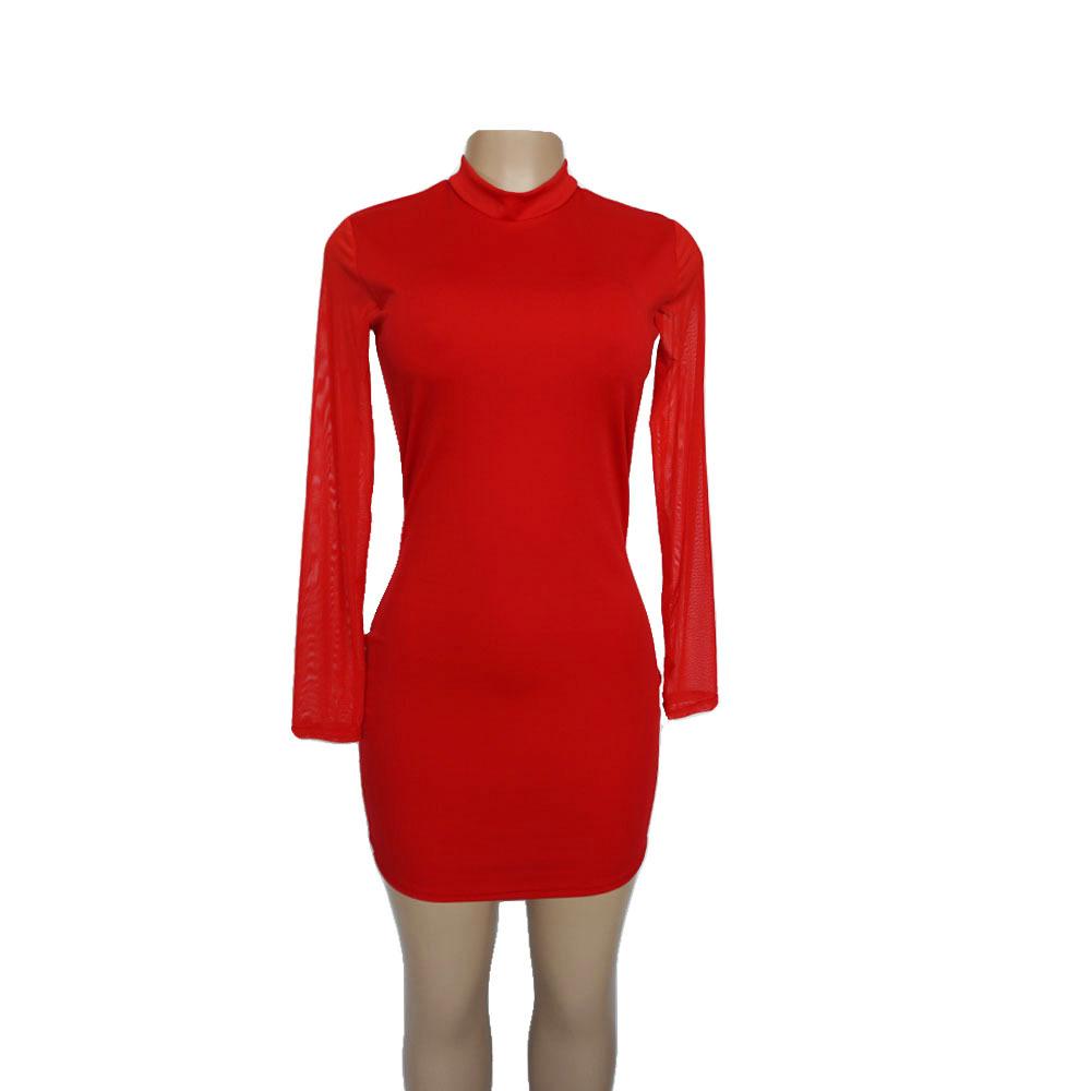 Swaggy HTB1knKlcvDH8KJjy1Xcq6ApdXXaN Langärmliges Slim Kleid