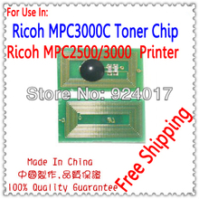 For Ricoh MPC2000 MPC2500 MPC3000 Toner Chip,Toner Reset Chip For Ricoh Aficio MP C2000 C2500 C3000 Copier,For Ricoh MPC 2500(China)