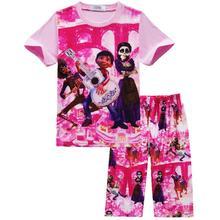 90d6e2c4f Children Boy Kids Clothes Pajamas Set Children Summer T-shirt Tops + Pants  Sleepwear Sports