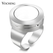 10pcs/lot Vocheng 20mm Floating Charms Locket Ring Alloy Openable Resizable VA-250*10(China)