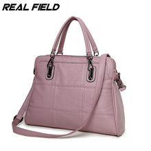 Real Field RF Brand Women Pu Leather Handbags Korean type sweet Fashion Patchwork Tote Crossbody Shoulder Messenger Handbag 200