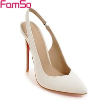 Black Apricot White Pointed toe High Heels Low Shoes Designer Party Pumps Spring Autumn Women's Slingbacks Pumps FSP2899
