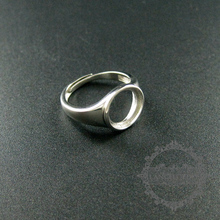 10mm setting size round bezel tray 925 sterling silver ring setting DIY jewelry supplies 1213027(China)