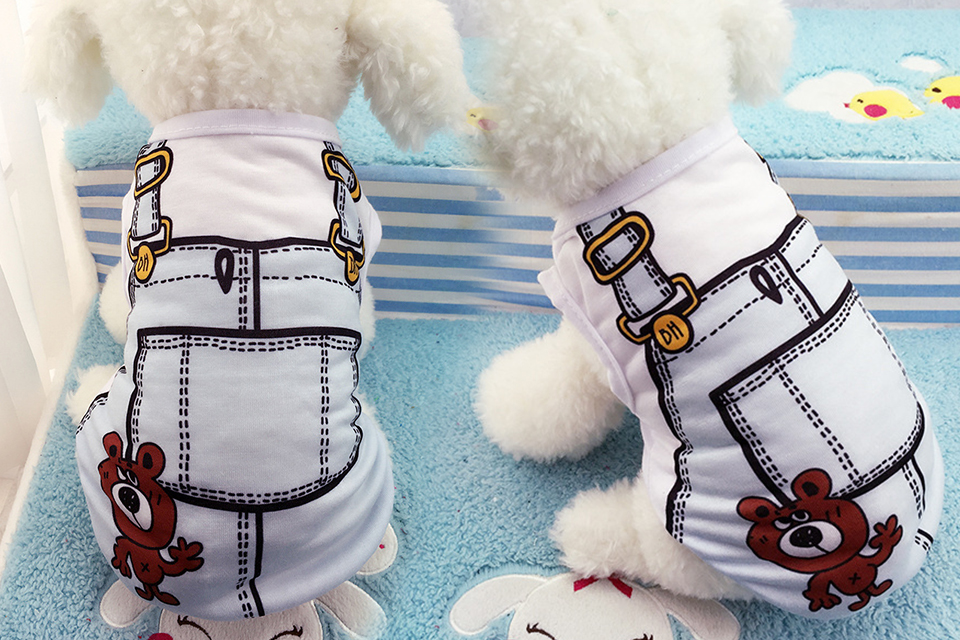 PET Cheap Dog Clothes With Free Shipping Mesh Cute Dog Vest 8 Cartoon Styles Spring Summer Dog Clothes For Small Dogs 610