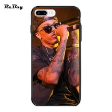 Pop August Alsina For Iphone 7Plus Case PC&TPU Plating Button Covers For Iphone 6/6s/6plus Ultra-thin Glaze For Iphone Case 7