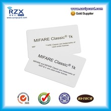 1000pcs ISO14443A MIFARE Classic 1K chip CR80 rfid card smart blank MIFARE card(China)