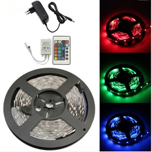 Waterproof 3528 LED Strip 300leds 5M + 12V 2A Power Adapter, 24Key IR Remote Controller Only for RGB Strip Light Free Shipping