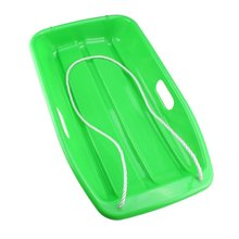 Plastic Outdoor Toboggan Snow Sled for Child Green 25.6 inch(China)