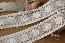 Retro Venice White Lace Trim Cotton Lace Trim Mesh Lace  for Home Decor Bag Costume Altered Couture Supplies 7yards/lot