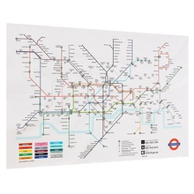 Practical London Underground Subway Map Silk Poster Decorative Fabric Painting Picture Wall Poster For Home Background Decor