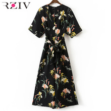 Buy RZIV 2017 summer jumpsuit casual flowers womens clothing printing rompers womens jumpsuit short sleeve trousers women for $19.74 in AliExpress store