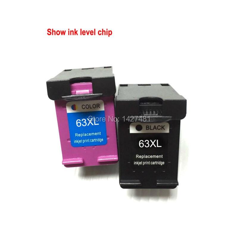 1set Remanufactured ink cartridge for HP63 HP63XL HP 63XL for HP DESKJET 3630 3632 Officejet 4652 4655 ENVY 4522 printer<br><br>Aliexpress