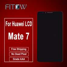 Fitow Brand Grade AAA 100% New LCD For Huawei Mate 7 LCD Display+Touch Screen Digitizer Glass Panel Replacement Free Shipping(China)