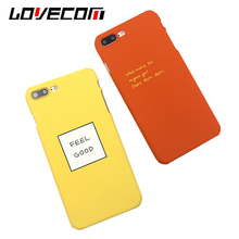 Buy LOVECOM Fashion Candy Color Letter Phone Cases iPhone 6 6S 7 Plus Matte Hard PC Back Cover Mobile Phone Bags for $1.36 in AliExpress store