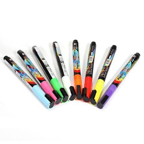 SOSW-8 pcs Pen Neon LED Neon Chalk Marker Liquid Chalk Pencil Table Bookmark window 8 colors<br><br>Aliexpress