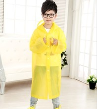 Age 6~13 Kids student Hooded Jacket children Girl boy Rain coat Poncho Raincoat Cover Long transparent Rainwear YY181(China)
