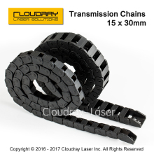 Transmission Chains 15 x 30mm 1M Non Snap-Open Plastic Towline Cable Drag Chain for CO2 Laser Engraving Cutting Machine