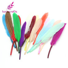Lucia crafts 10-16cm Random mixed colors Natural feathers DIY Handmade accessories 48pcs/lot 077005(China)
