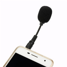Black Mini Stereo Microphone 3.5mm Mic Laptop Notebook Mobile Cell Phone Gifts NOJ13