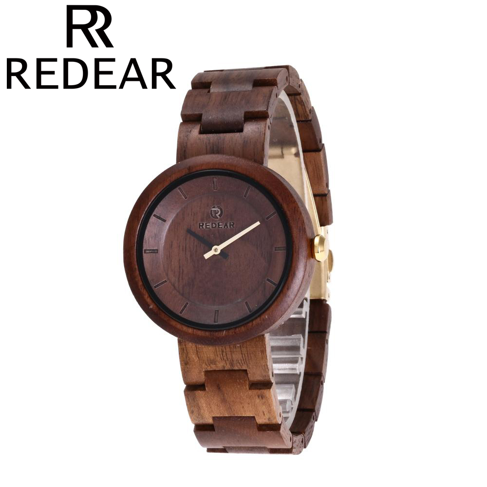 REDEAR All Walnut Wood Watch Ladies Watch Japanese Movement Quartz Watches for Mens and Women<br>