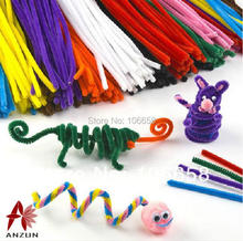 100pcs 6mm x 300mm Chenille Stems Twist Wire Stems Pipe Cleaners Children Handmade Education Chenille Craft Christmas decoration